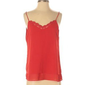 Y Coo Paris red camisole with lace
